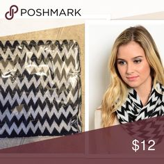 ON SALE! Chevron soft scarf! New! Black and white chevron scarf! One size. 100% Acrylic. Soft! Not branded. Infinity scarf Accessories Scarves & Wraps