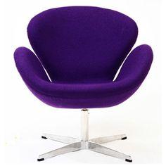 Purple Swan Chair