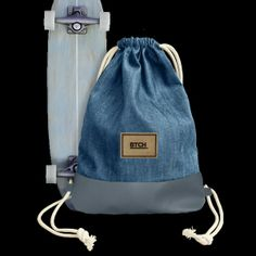 Light Denim Turnbeutel