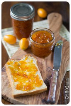 Kumquatmarmelade Chutneys, Cornbread, Dairy, Cheese, Homemade, Ethnic Recipes, Spreads, Food, Gelee