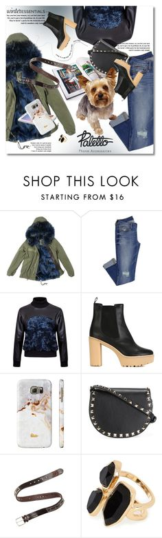 """Paletto-shop"" by svijetlana ❤ liked on Polyvore featuring Mr & Mrs Italy, W.S. Studio, Samsung, RED Valentino, Valentino, Fausto Colato, River Island, polyvoreeditorial, winterstaples and palettoshop"