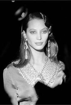Christy Turlington backstage for Christian Dior 1992