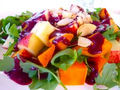 Sweet Potato and Arugula Salad with Blueberry Dressing
