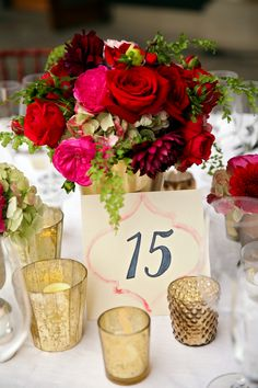 Adore these watercolor table numbers! | Pepper Nix Photography
