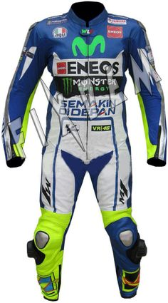 VALENTINO ROSSI YAMAHA MOVISTAR 2015 MOTORBIKE RACING MOTOGP LEATHER SUIT