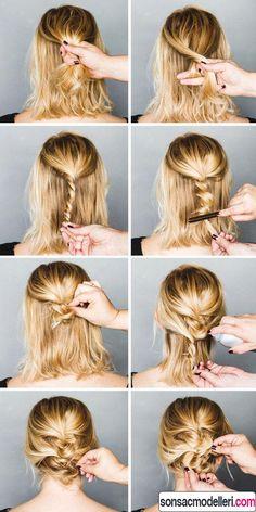 kolay kısa saç toplama