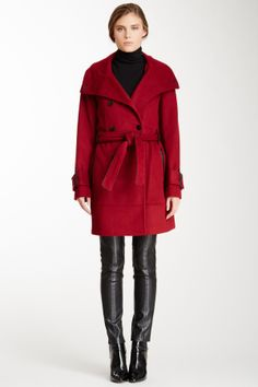 5e6adcada3 Calvin Klein Solid Lux Wool Coat by Non Specific on I am definitely loving  this fabulous coat.