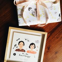Personalize frame for Mr. & Mrs. Rudianto #kellyswrappingpaper