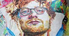 Image result for Tyler Kennedy Stent art mural of singer Ed Sheeran Ed Sheeran, Street Art, Singer, Watercolor, Painting, Image, Pen And Wash, Watercolor Painting, Singers