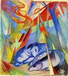 Sleeping Animals by Franz Marc #art