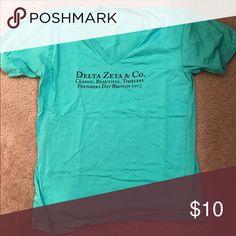 Delta zeta t shirt Delta zeta Tiffany blue founders day shirt Tops Tees - Short Sleeve