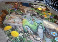 3D chalk drawings - Bing Images