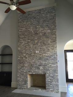 Yellow Travertine Splitface Fireplace | Travertine Applications ...