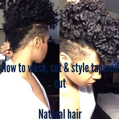 NATURAL HAIR | How I Wash, Shape & Style my Tapered Cut