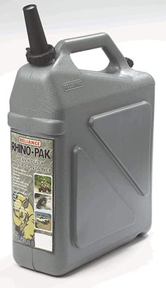 Amazon.com : Reliance Rhino-Pak Heavy Duty Water Container (Grey, Medium) : Camping Water Storage : Sports & Outdoors Large Water Containers, Long Term Water Storage, Swimming Equipment, Camping Water, Emergency Water, Container Design, Camper Conversion, Batten, Side Panels