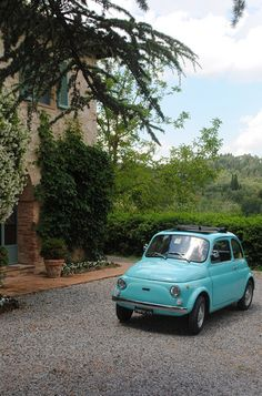 driving one of these around would be nice too! fiat 500 - tuscany - italy
