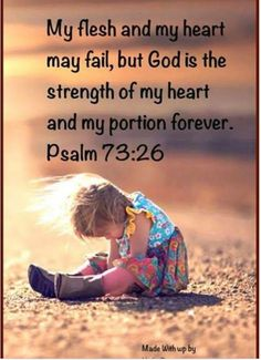 YHWH is the strength of my heart...may He protect the innocent.