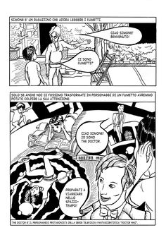Simone 1 (JUSMachinery, 2013) - First page of a comic story of a boy with autism and his imaginary friend, Doctor Who, that helps him relate to the concept of time.