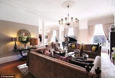 Luxury: The lavish property in the exclusive area of the city comes complete with ornate h...