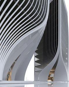 Striking Architecture Photography by Roman Vlasov - Architektur - Futurism Architecture, Dynamic Architecture, Concept Architecture, Sustainable Architecture, Contemporary Architecture, Amazing Architecture, Architecture Details, Interior Architecture, Pavilion Architecture