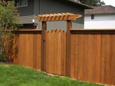Fence gate to the park option... http://www.nwfences.com/wp-content/uploads/2010/06/solid-style-cedar-fence-4.jpg
