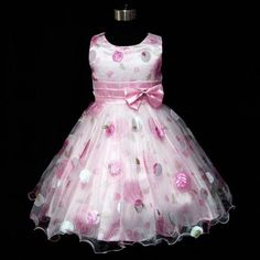 Christmas Bridesmaid Party Pinks Flower Girls Dresses Age Y Girls Fancy Dresses, Girls Pageant Dresses, Girls Party Dress, Little Dresses, Little Girl Dresses, Cute Dresses, Dress Party, Dresses Short, Flower Girls