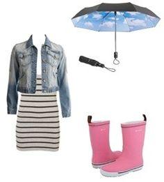 Opciones para vestir en días lluviosos