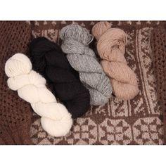 custom woolen mills - mule spinner 2-ply 70% alpaca - skeins : alpaca + merino wool . soft . natural alpaca colours