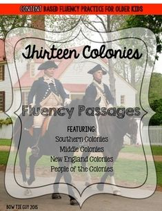 Studying the 13 Colonies? These fluency passages are an excellent review of social studies content while practicing fluency with older kids! There are also 5 unique review questions with each fluency passage. If you like these, check out my other Abolition and Suffrage products!