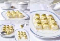 My favorite Arabic dessert, cheese stuffed semolina dough (halawet el jiben)  حلاوة الجبن