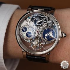 Bovet is extremely proud to present you the Récital 18 - The Shooting Star. An exceptional complicated timepiece featuring a more intuitive and innovative way of reading the time articulated around the two stars that define it : the earth and the moon. by bovet1822