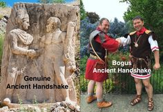 Genuine (Anatolia) and Bogus (York) Thanks to Simon Turney and Ian Edge for being good sports and demonstrating the wrong way! Roman Legion, Being Good, Romans, Hiking Boots, Pure Products, York, Baseball Cards, Sports, Hs Sports