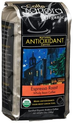 Caffe Sanora Organic AntioxidantRich Espresso Roast Whole Bean Coffee 12Ounce Bags Pack of 3 *** This is an Amazon Associate's Pin. Check out this great product on Amazon website by clicking the image.