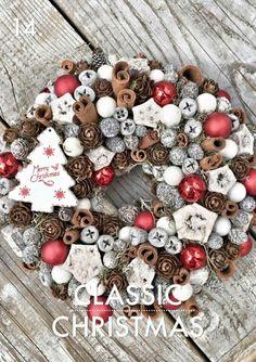 Kopogtató 6500.- Laura Virág Christmas Advent Wreath, Merry Christmas, Winter Christmas, Christmas Home, Xmas Decorations, Flower Decorations, Diy Wreath, Happy Holidays, Diy And Crafts