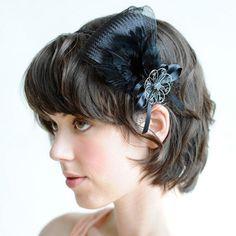 Pendant Feather Fascinator Headband by thepoppyhearts on Etsy, $34.99