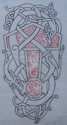 """Urnes style tutorial. Take a look at the other 3 tutorials for the general knotwork basics. see also: Mating urnes beasts, should I put on """"Mature Content""""?"""