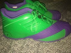 Adidas TMAC 1 Marvel Hulk Green Purple Basketball SneaKers Men's Size 16 Q16926 | Clothing, Shoes & Accessories, Men's Shoes, Athletic | eBay!