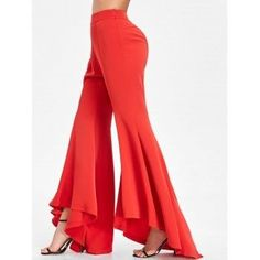 Bell Bottom Pants mit hoher Taille  RED XL