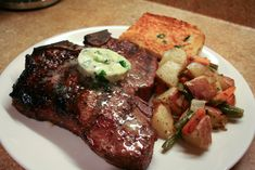 Grilled Porterhouse Steak | Grilled Porterhouse Steak with Herb Butter