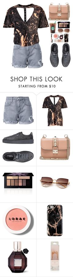 """Untitled #401"" by emmeleialouca ❤ liked on Polyvore featuring Nobody Denim, Boohoo, Puma, Valentino, Smashbox, LORAC, Viktor & Rolf and Kat Von D"