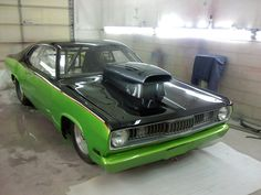 our 71 Duster Carlton painted.