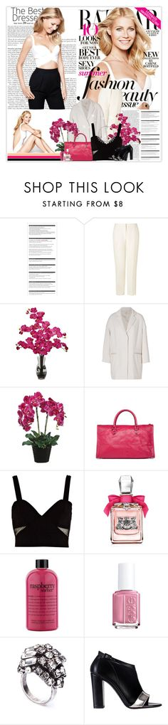 """""""Gwyneth Paltrow"""" by planetlipstick ❤ liked on Polyvore featuring Gwyneth Shoes, Arche, L.K.Bennett, Nearly Natural, Vanessa Bruno Athé, Balenciaga, River Island, Juicy Couture, philosophy and DANNIJO"""