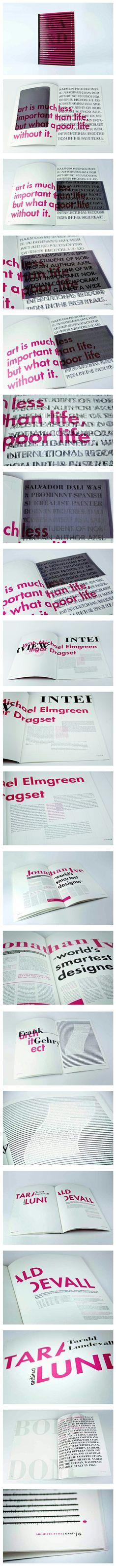 KA typographic magazine