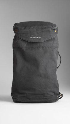Burberry Gray Sailing Canvas Duffle Bag