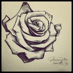 Tattoo idea #tattoo #tattoodesign #rosetattoo #rose #tattoos #simpletattoo