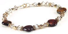 Jewelry Making Idea: Shimmering Tiger Eye Bracelet (eebeads.com)