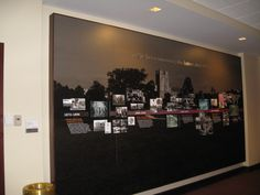 History wall in the Visitor's Center