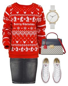 """""""Untitled #1741"""" by christawallace on Polyvore featuring Miss Selfridge, Disney, Converse, Gucci and Skagen"""