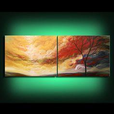 HUGE lollipop tree painting original art abstract wall by mattsart