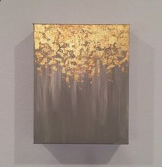 Gold leaf painting abstract gold leaf painting by PaintAndPattern